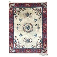 Wonderful Vintage Chinese Style Transylvanian Rug