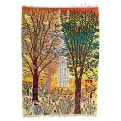 Wonderful Vintage Egyptian Wissa Wassef Woven Tapestry