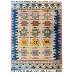 Wonderful Vintage Indian Dhurrie Rug