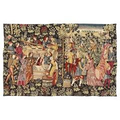 Wonderful Vintage Jaquar Tapestry Aubusson Style Medieval Design