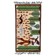 Wonderful Vintage Navajo Flat Rug Tapestry