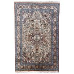 Wonderful Vintage Silk Kashmir Rug