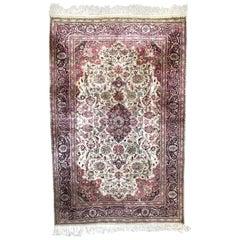 Wonderful Vintage Silk Turkish Kayseri Rug