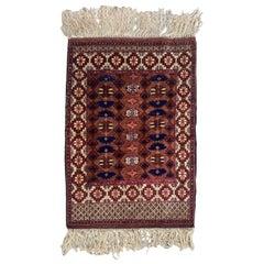 Wonderful Vintage Silk Turkmen Rug