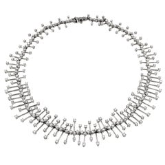 Wonderful White Diamonds and White Gold Necklace, Constellation Collection