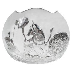 Wonderful and Witty Cartier Modern Sterling Silver Fishbowl Vase