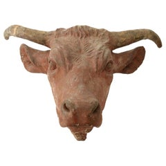 Wonderfully Detailed Concrete Cow Head