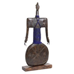 Wood and Beads Sculpture, Cameroon, 20th Century