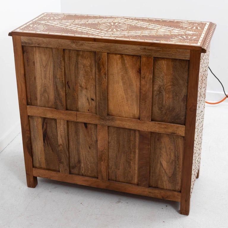 Wood and Bone Inlaid Chest of Drawers For Sale 1