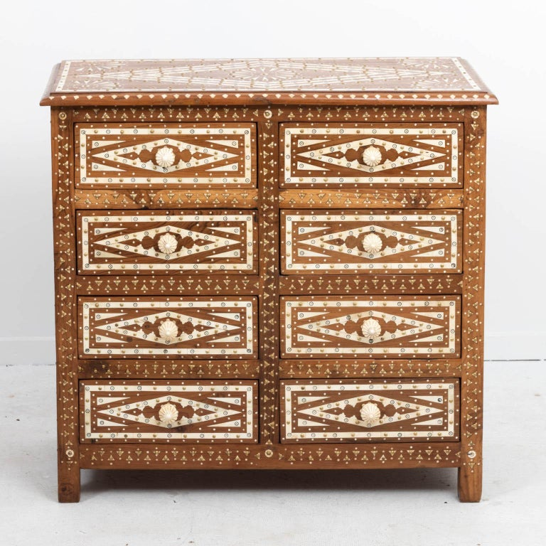 Wood and Bone Inlaid Chest of Drawers For Sale 2