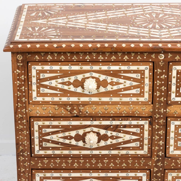 Wood and Bone Inlaid Chest of Drawers For Sale 3