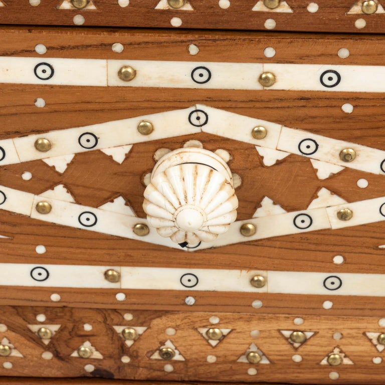 Wood and Bone Inlaid Chest of Drawers For Sale 4