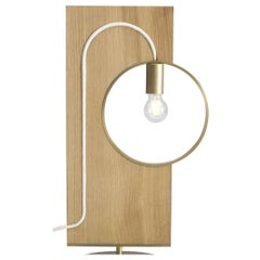 "Wood and Brass ""LOOP"" Table Lamp, Filip Janssens"