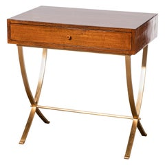 Wood and Bronze Console Table by Comte, Argentina, Buenos Aires, circa 1950
