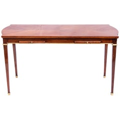 Wood and Bronze Table, Attributed to Maison Jansen, France, circa 1950