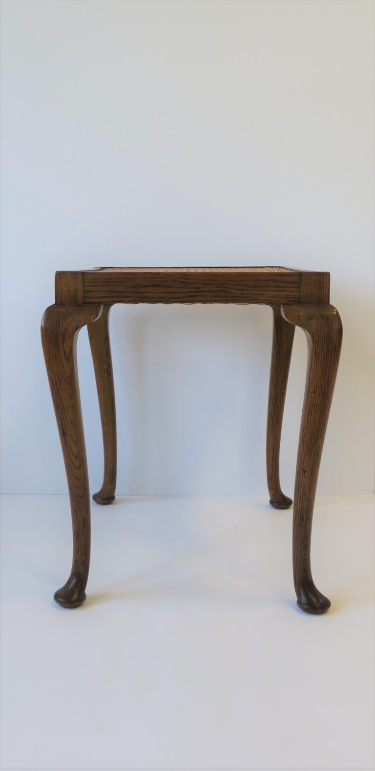 Wicker Cane and Wood Side or End Table For Sale 5