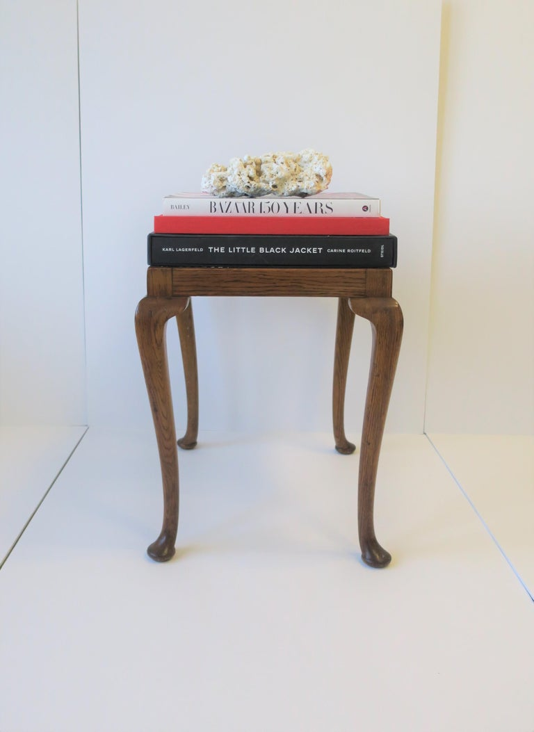 Wicker Cane and Wood Side or End Table For Sale 9
