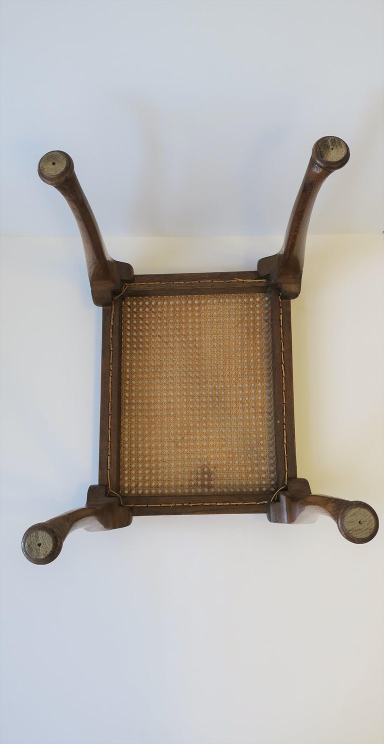 Wicker Cane and Wood Side or End Table For Sale 14