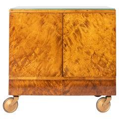 Wood and Glass Bar Cart by Nordiska, Argentina, circa 1950