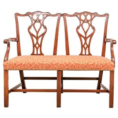 Wood and Hogan Chippendale Style Mahogany Bench