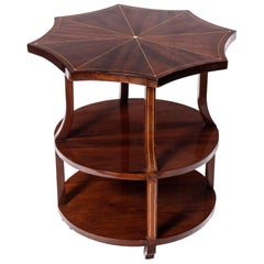 Wood and Marquetry Side Table, Art Deco Period, France, circa 1930