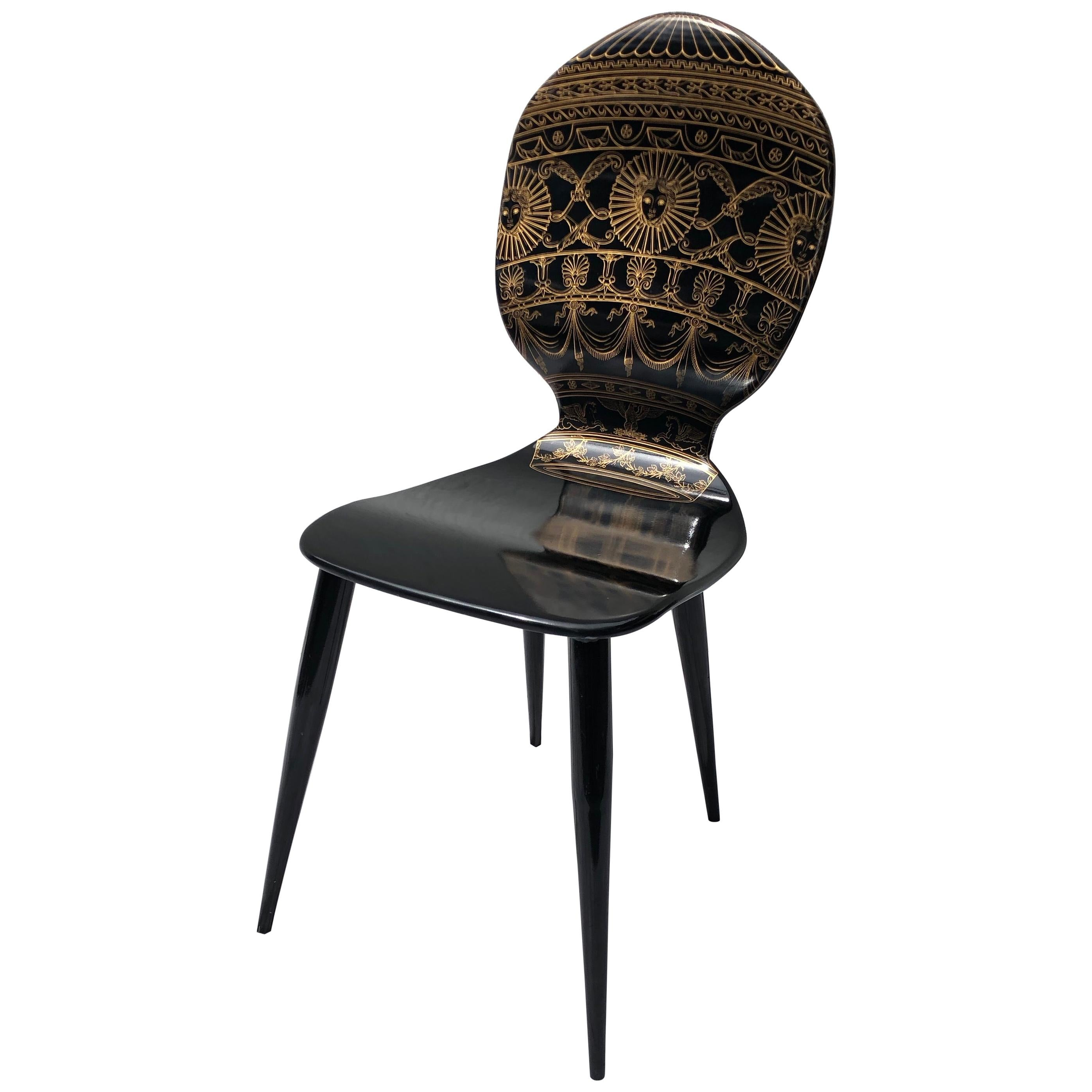 """Wood and Metal """"Balloon"""" Chair by Piero Fornasetti"""
