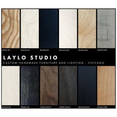 Wood and Metal Finish Samples from Laylo Studio