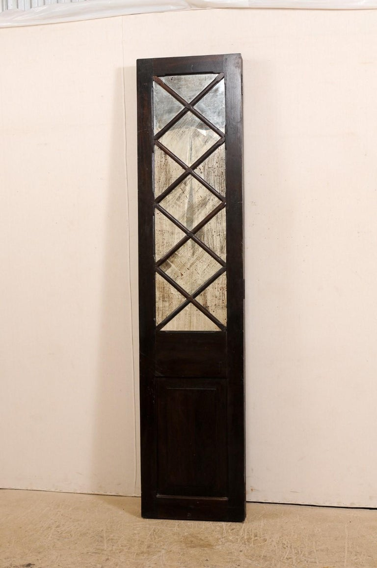 Wood and Mirrored Folding Screen, Mid-20th Century For Sale 7