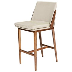 Wood and Off-White, Stool Chair Brandenton