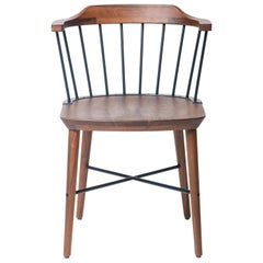 Wood and Steel Windsor Dining Chair, Exchange