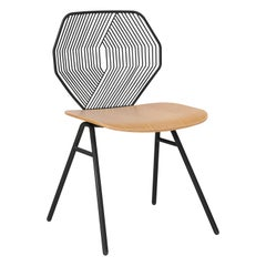 Wood and Wire Chair in Black by Bend Goods