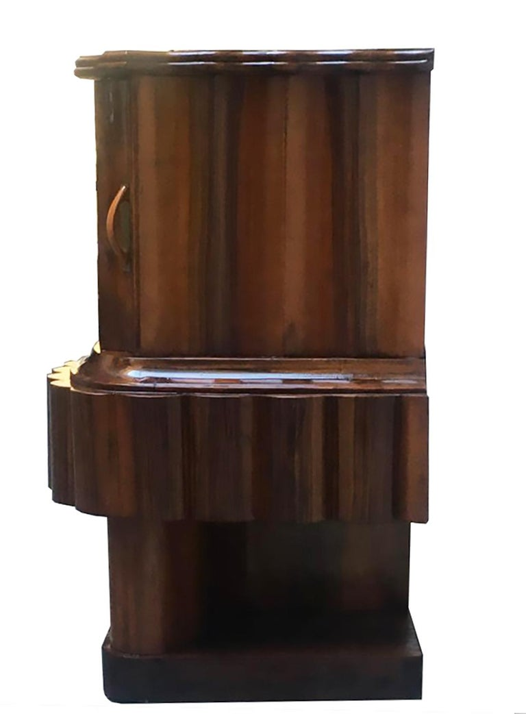 Early 20th Century Wood Art Deco Italian Bedside Table, 1920 For Sale