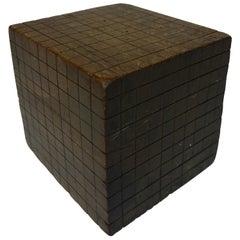 "Wood ""Base Ten"" Cube Educational Model"