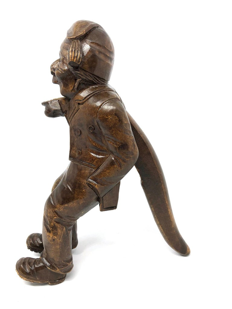 Wood Black Forest Brienz Carved Figural Nutcracker German Antique, 1900s 10