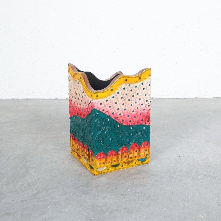 Post-Modern Wood Box by Borek Sipek for Driade, circa 1990 For Sale
