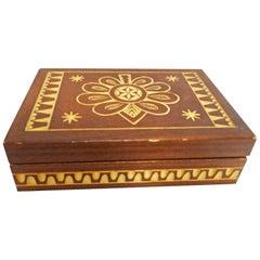 Wood Box Hand Carved Vintage