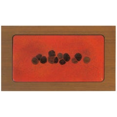 Wood Box with Orange Enamel Top
