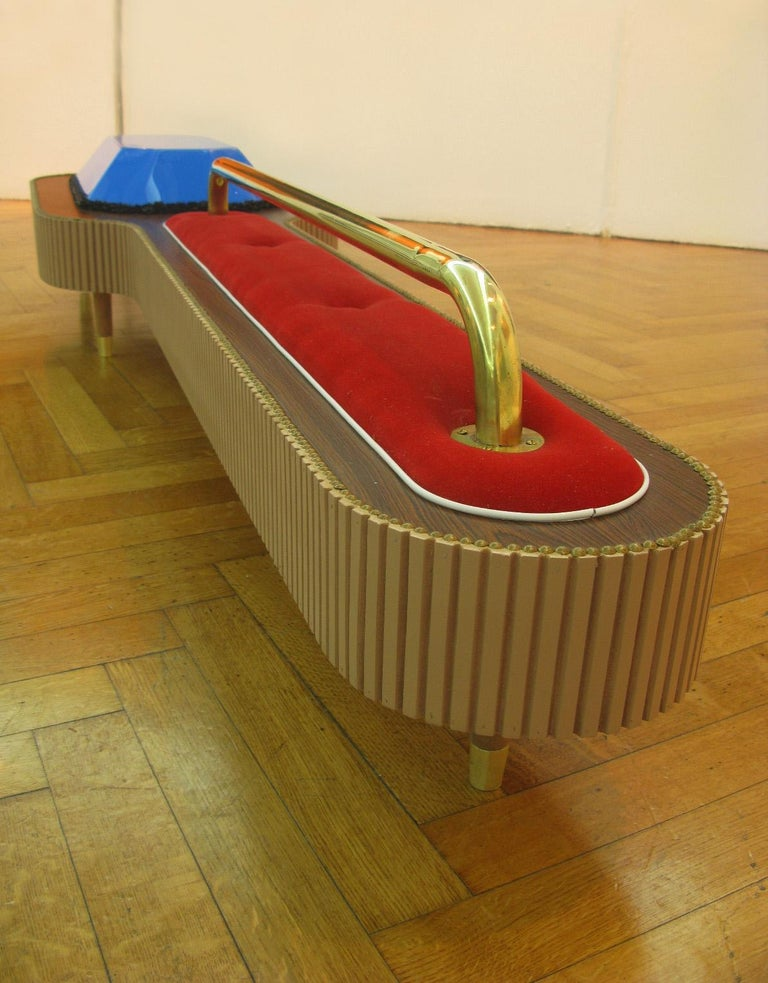Wood, Bronze, Velvet and Acrylic Sculpture by Daniel Basso, 2011 For Sale 1