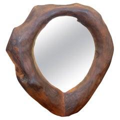 Wood Brutalist Mirror