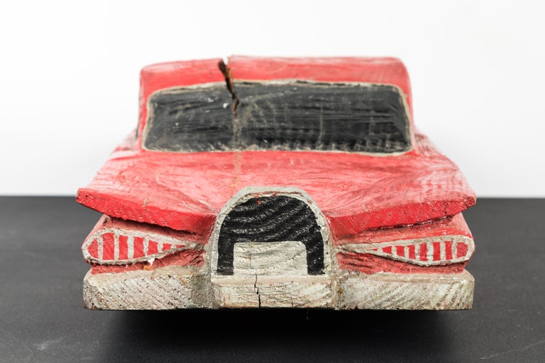 Wood Carved American Folk Art Muscle Car For Sale 5