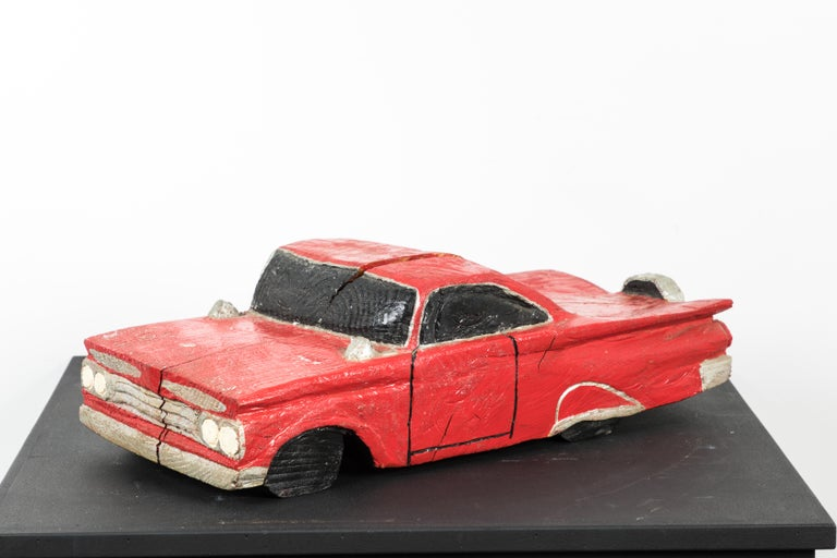 Mid-20th Century Wood Carved American Folk Art Muscle Car For Sale