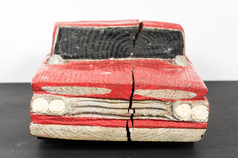 Wood Carved American Folk Art Muscle Car For Sale 1