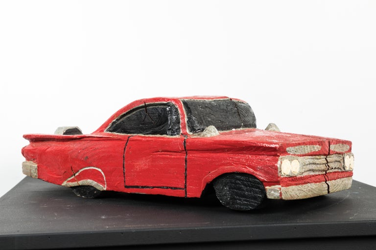 Wood Carved American Folk Art Muscle Car For Sale 3