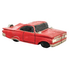 Wood Carved American Folk Art Muscle Car
