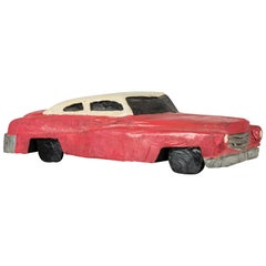 Wood Carved Folk Art American Muscle Car