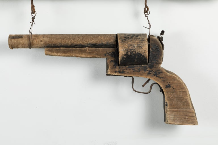 Wood Carved Gun American Trade Sign For Sale 1
