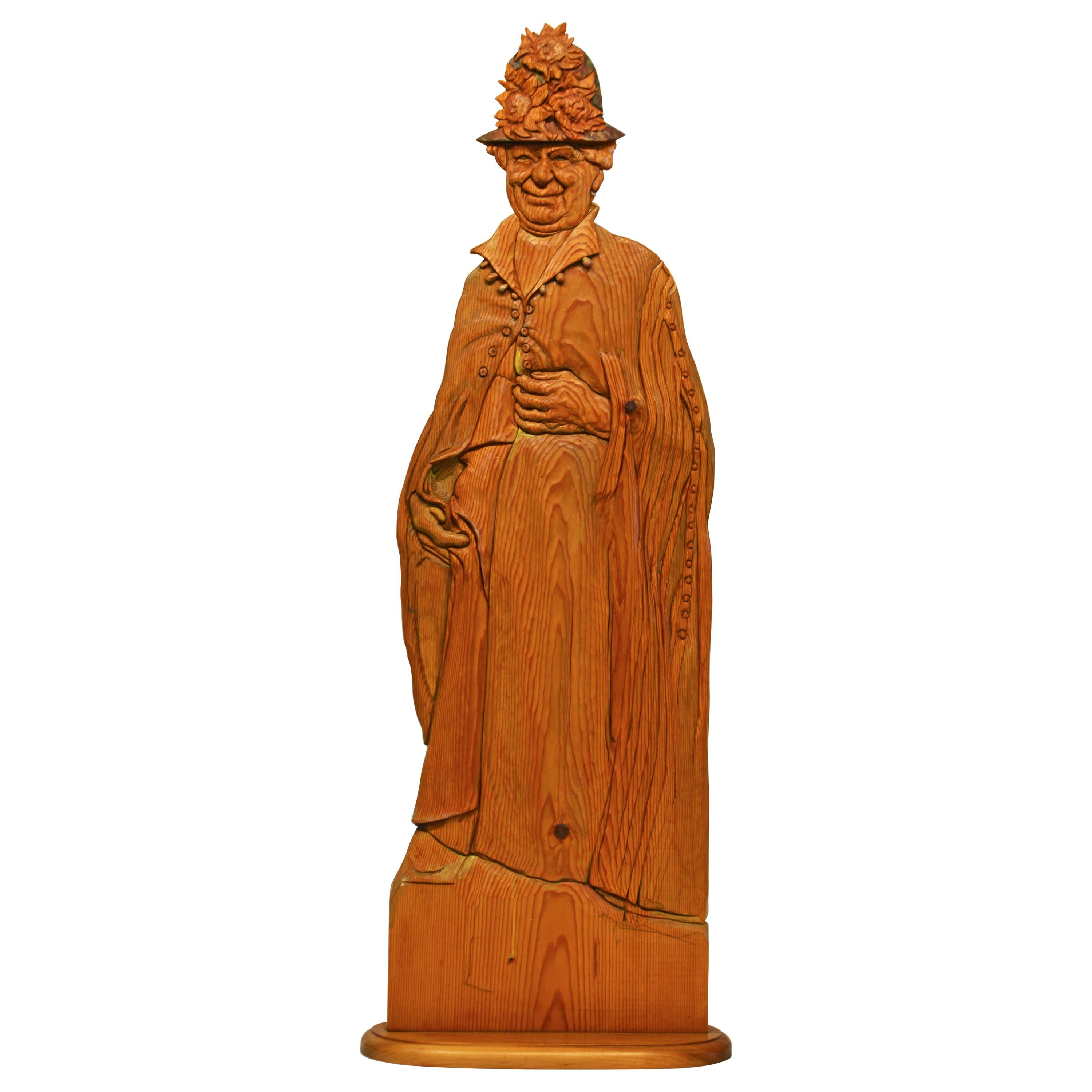 Wood Carving Sculpture 'Grace' by Rick Harney Noted Illinois Artist