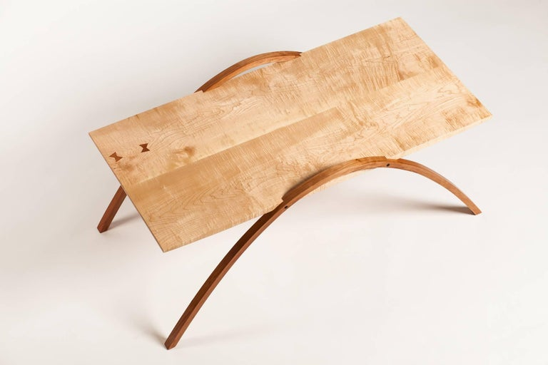 Hand-Crafted Wood Coffee Table by Fred Rossi For Sale
