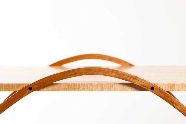 Contemporary Wood Coffee Table by Fred Rossi For Sale