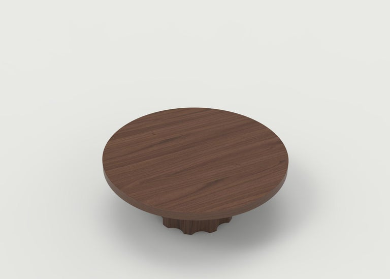 The Bayard coffee table is all hand carved with a whimsical base based on a nut and bolt. All crafted in our shop in Brooklyn with carefully selected wood and finished to your specifications.  Price shown is for table in standard wood and finish in